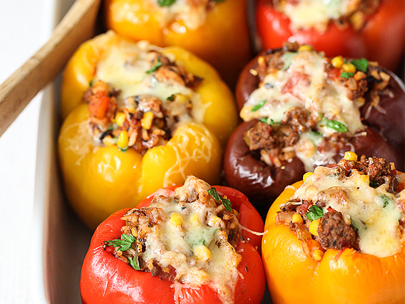 Winner of Most Versatile Meal: Stuffed Peppers