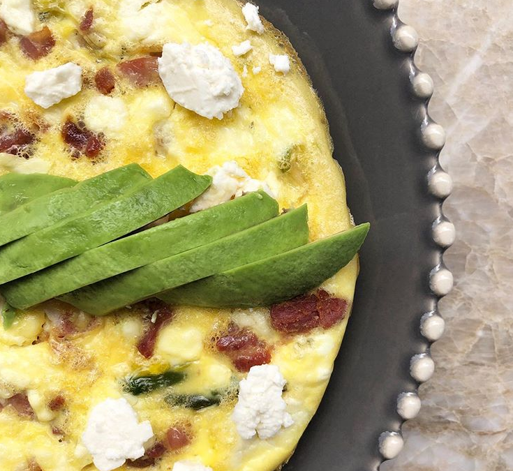 Spring Frittata with Leeks, Asparagus, Pancetta and Feta