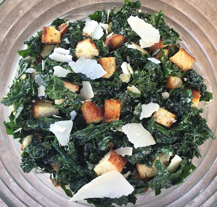 Kale Caesar Panzanella