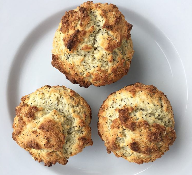 Lemon Poppyseed Yogurt Muffins